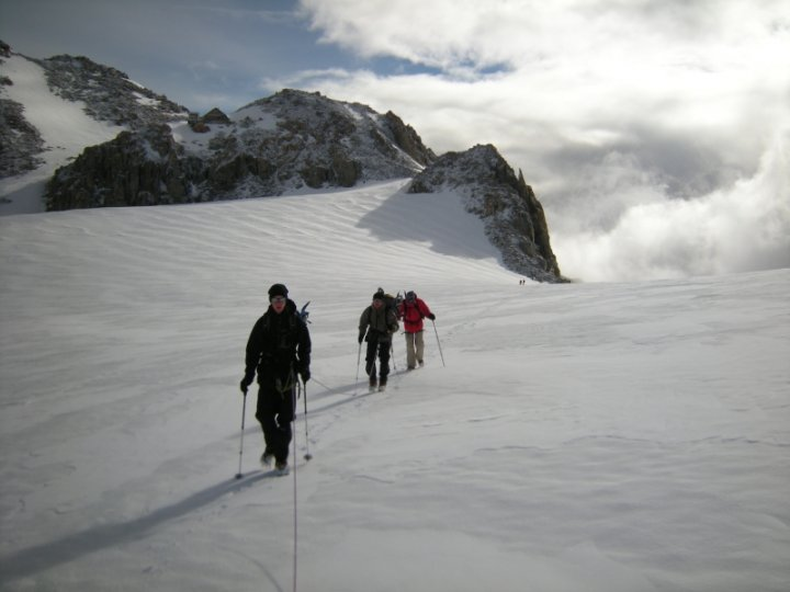 Passage au Plateau de Trient vers l'aiguille du Tour