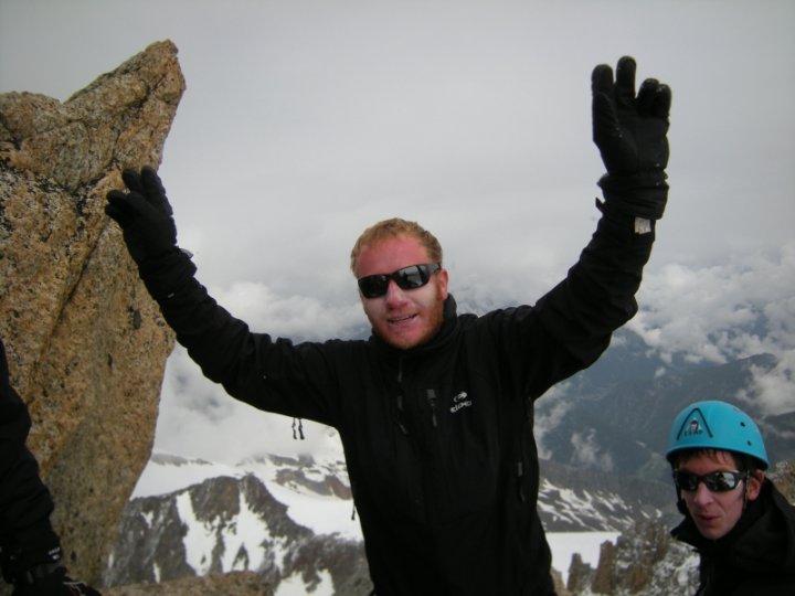 François, sa bonne humeur au sommet de l'aiguille du Tour !