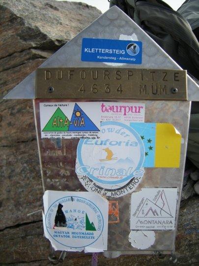 Sommet du Mont-Rose, pointe Dufour